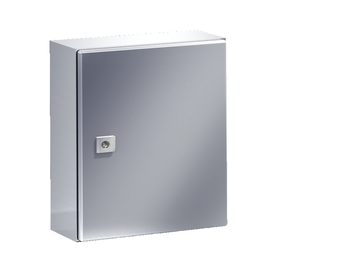 Image AE1005 S/S ENCLOSURE 300X380X210 (15x12x8.3) Stainless (AISI 304 ) Nema 4x